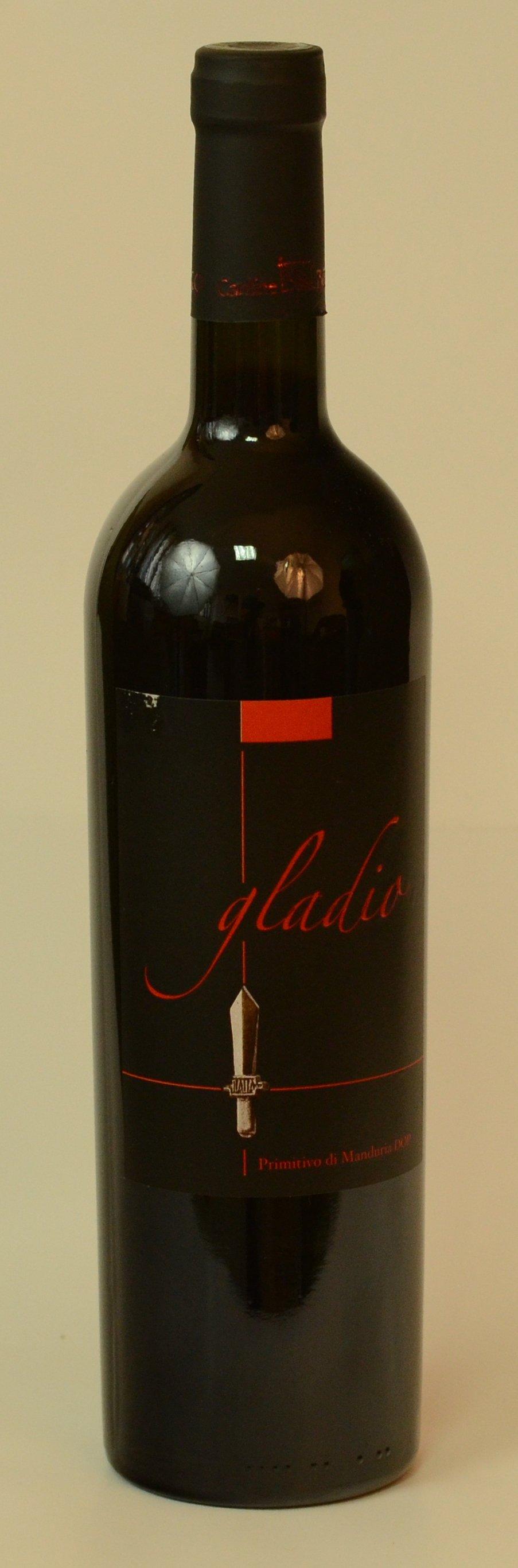 "GLADIO  Vin ,,Primitivo di Manduria"" DOC ( Denumire de Origine Controlata ) SEC       16 º Vol"