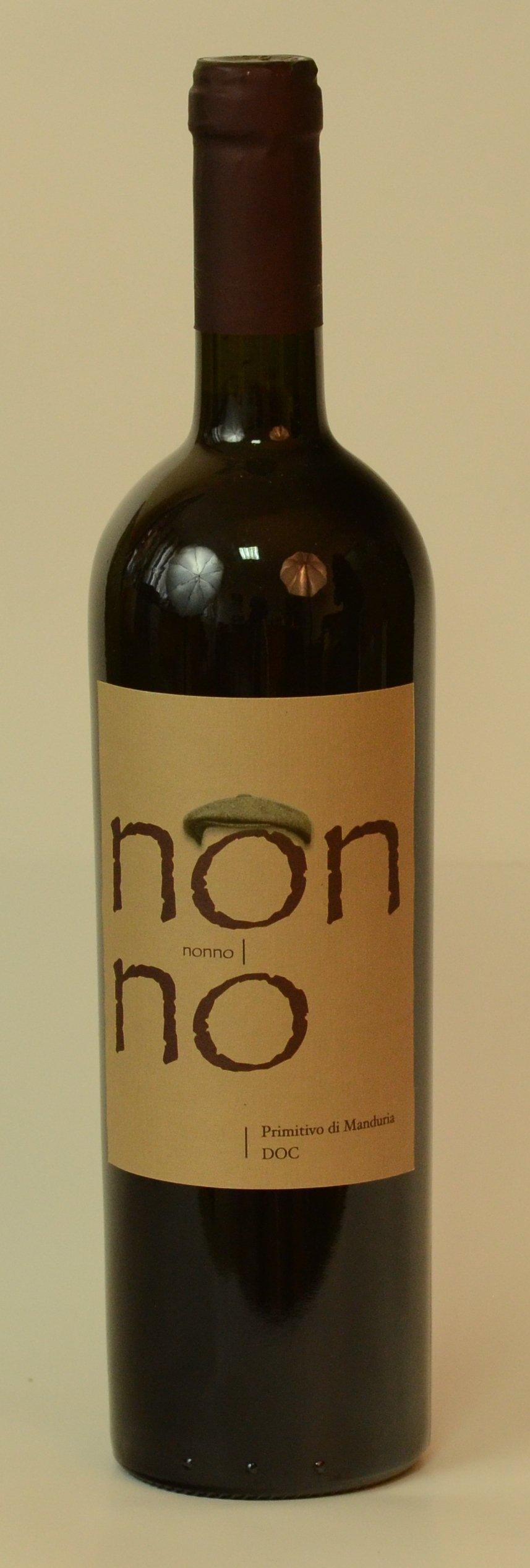 "NONNO Vin ,,Primitivo di Manduria"" DOC  ( Denumire de Origine Controlata ) SEC      17 º Vol"