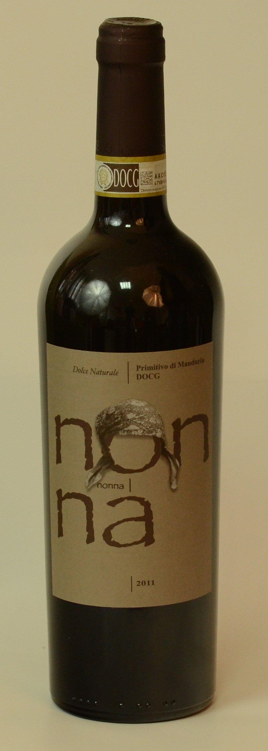 "NONNA  Vin ,,Primitivo di Manduria"" DOC ( Denumire de Origine Controlata ) DULCE NATURAL     16 º Vol"